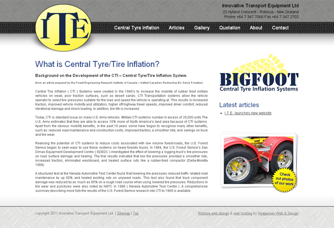 Bigfoot Central Tyre Inflation: Bigfoot Central Tyre Inflation