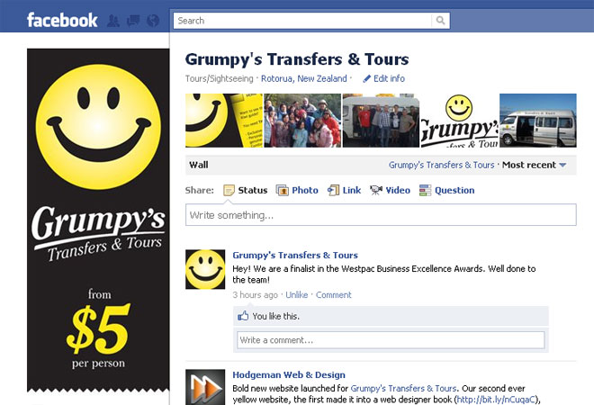 Grumpy's Transfers & Tours: Facebook page