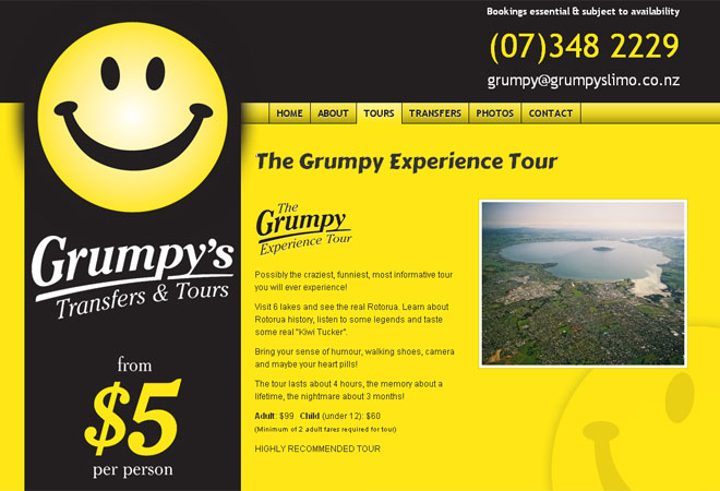 Grumpy's Transfers & Tours: Tour detail