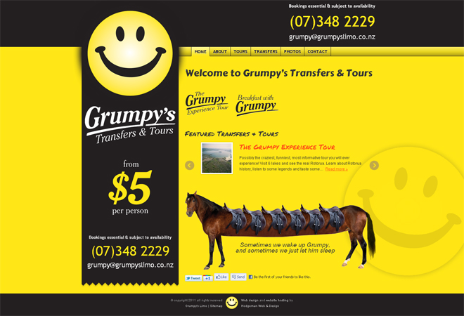 Grumpy's Transfers & Tours: Homepage