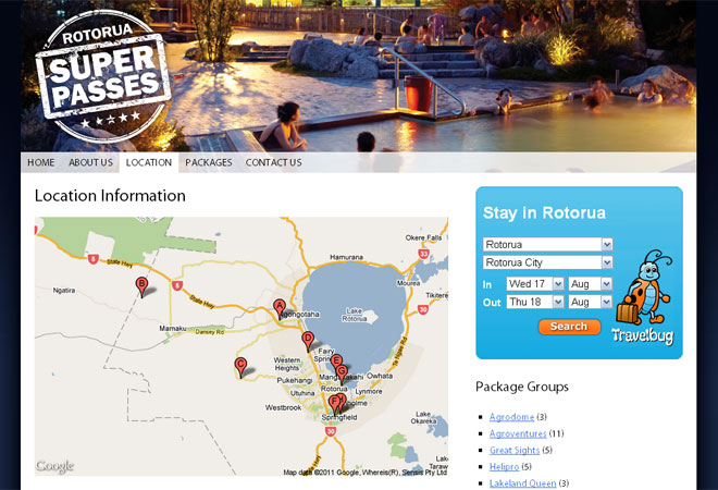 Rotorua Super Passes: Location detail