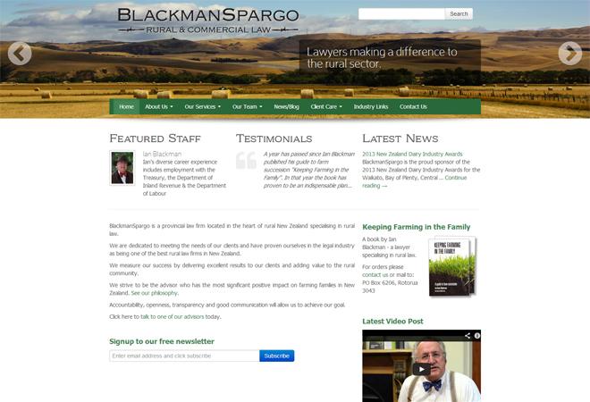 Blackman Spargo: Homepage