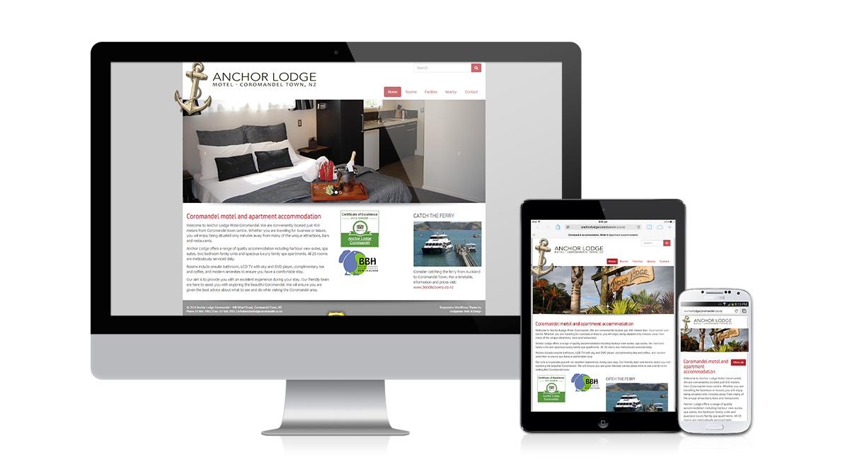Anchor Lodge Coromandel - Responsive design