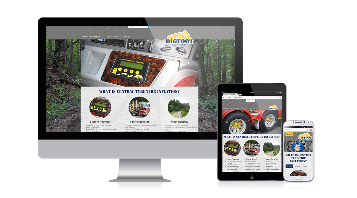Bigfoot Central Tyre Inflation: Responsive design