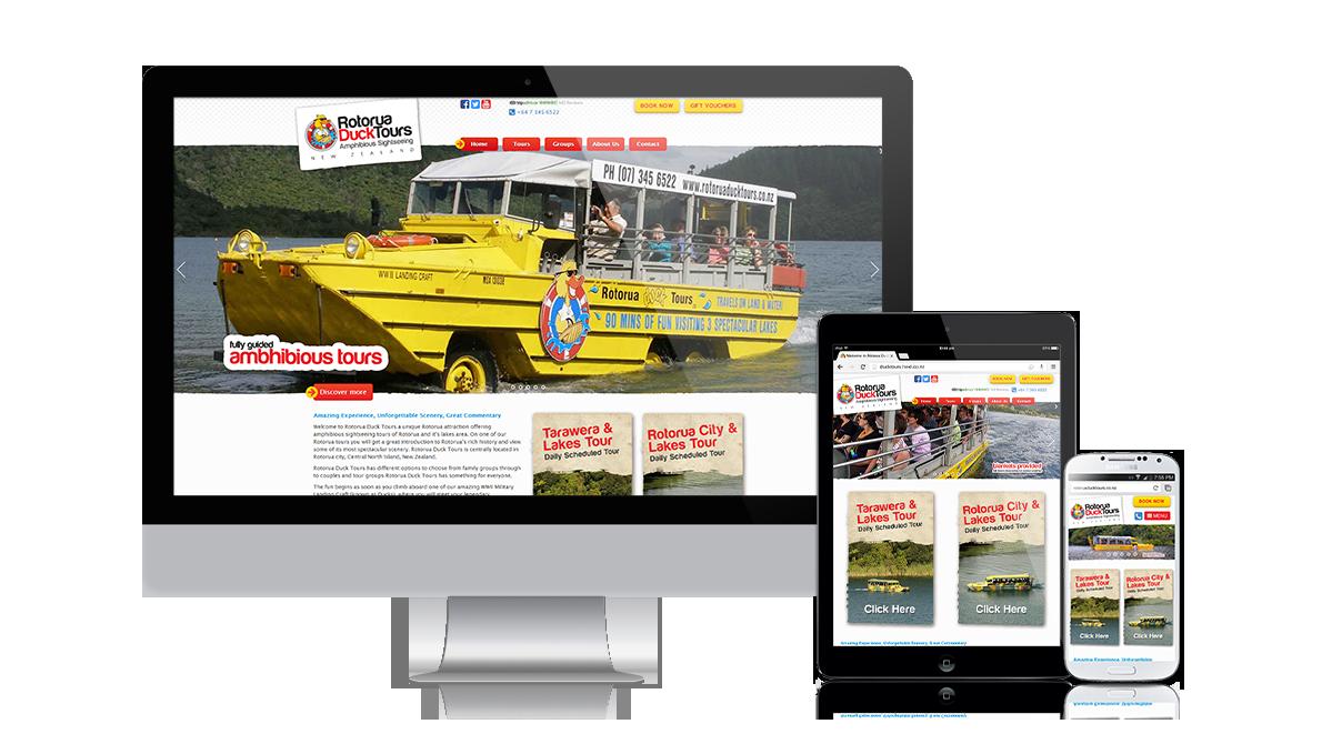 Rotorua Duck Tours Responsive Website