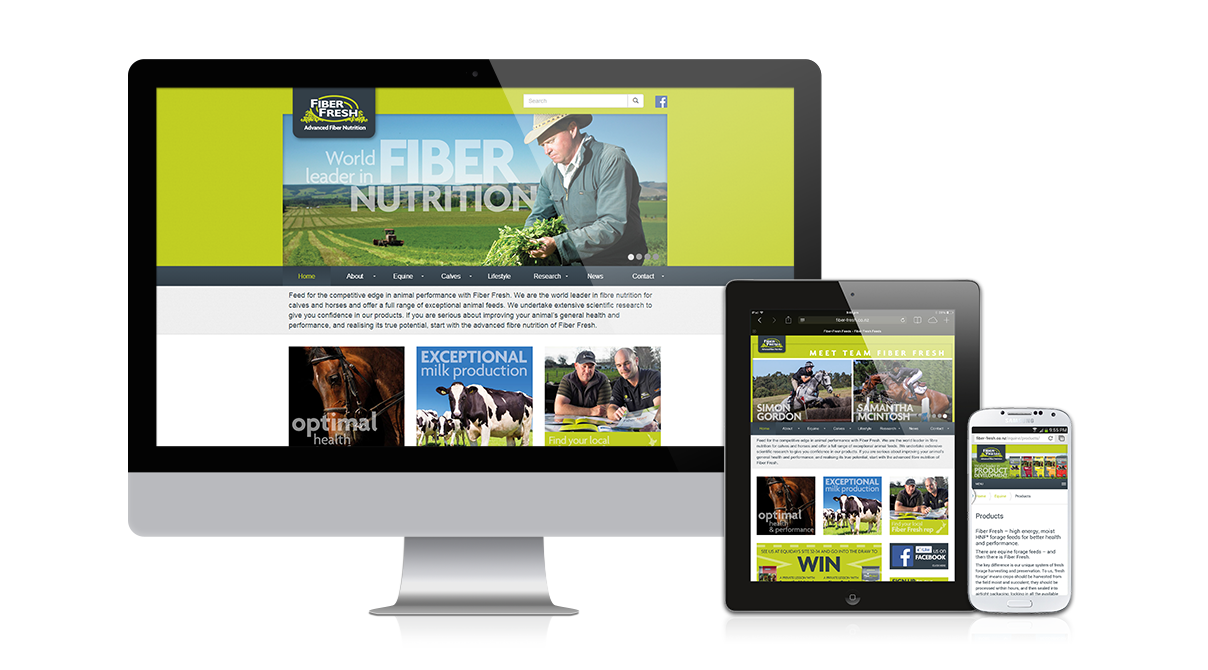 Fiber Fresh Feeds - Responsive design