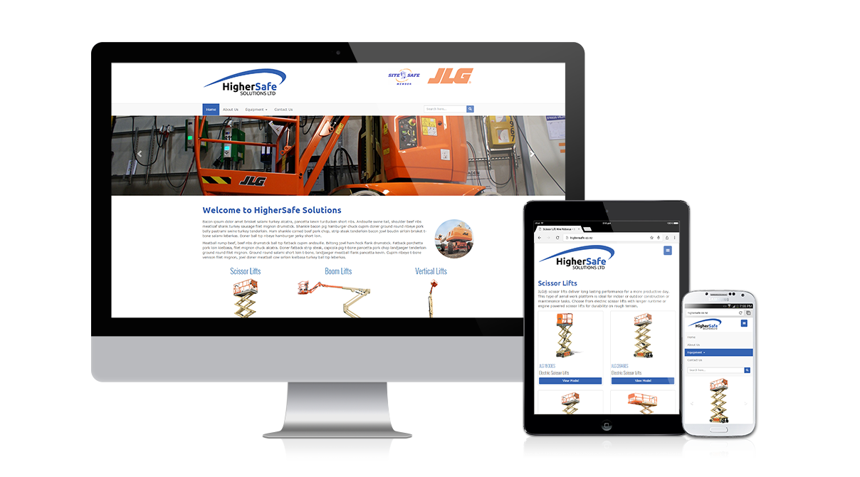 HigherSafe Solutions: Fully responsive design