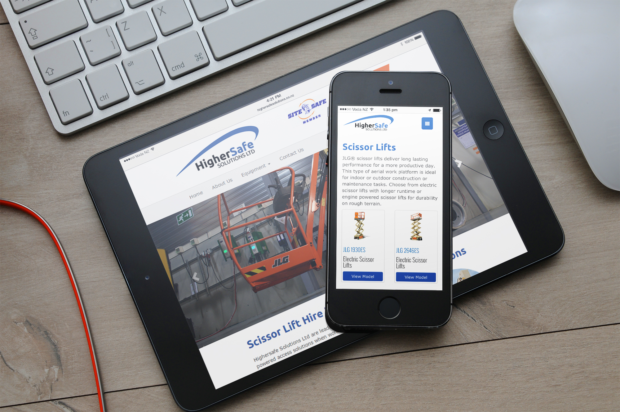 HigherSafe Solutions: Mobile and tablet friendly