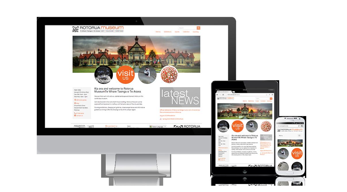 Rotorua Museum: Responsive custom WordPress theme