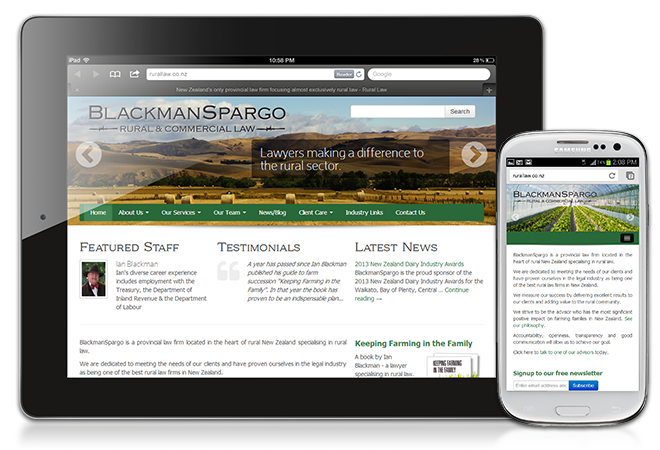 Blackman Spargo: Rural Law, Blackman Spargo - Responsive design