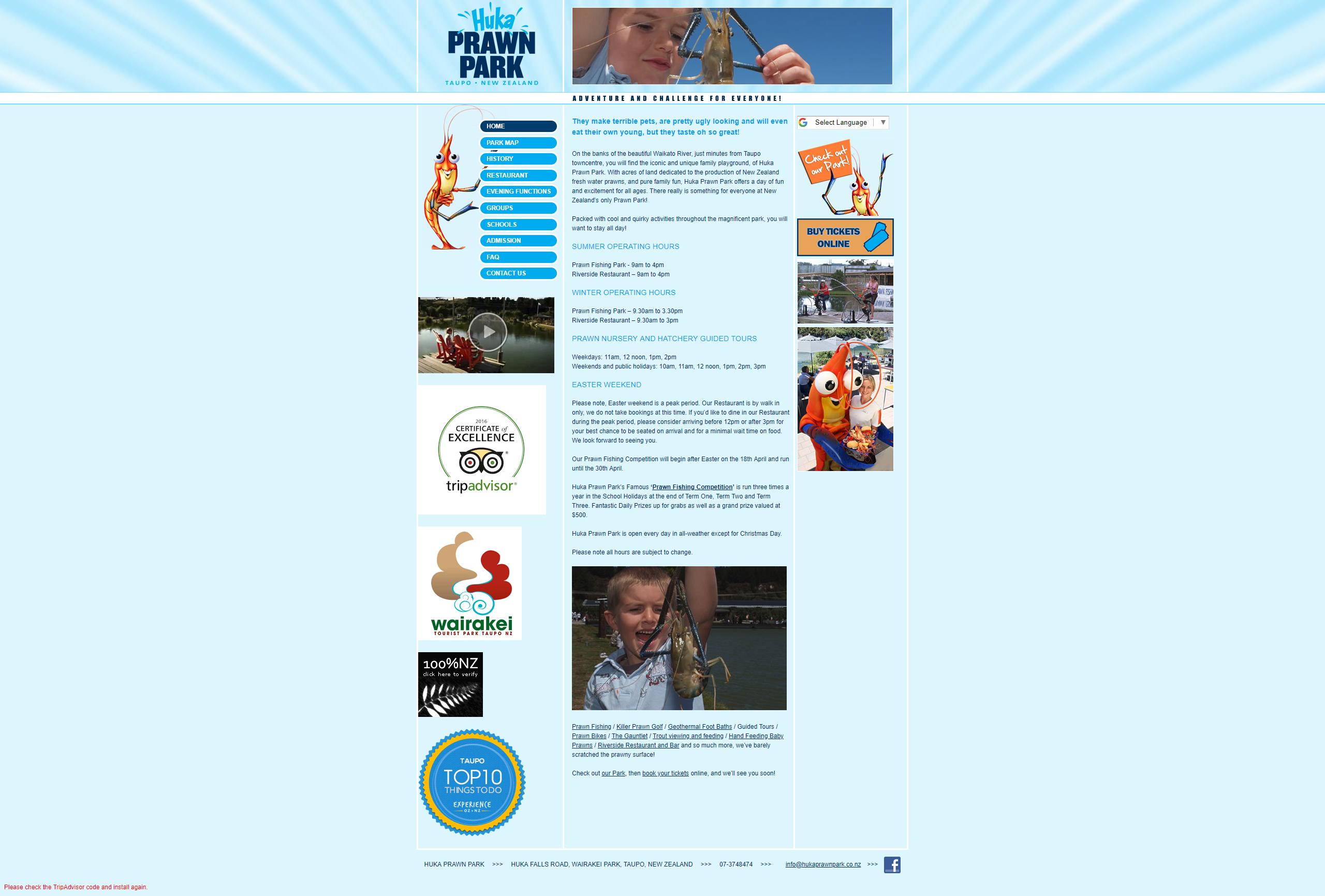 Huka Prawn Park: